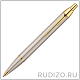 Шариковая ручка Parker IM Metal K223 Brushed Metal GT - s0856480