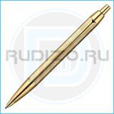 Шариковая ручка Parker IM DELUXE Brushed Metal Gold GT - R0736980